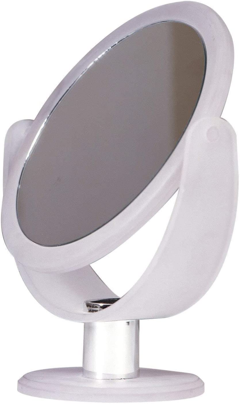 Floxite FL-83FMC Vanity Magnifying Mirror – 8x Magnification 3x Magnification – Chrome Frosted White