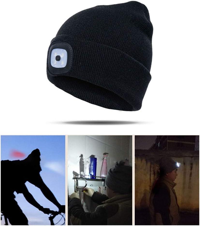 Camping Chou LED USB Bonnet Chapeau Pliable pour P/êche De Nuit Promenade De Chien Cyclisme Jogging