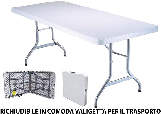 Tavoli In Pvc Pieghevoli.Tavolo Tavolino Pieghevole Set Birreria In Dura Resina 183x76xh72