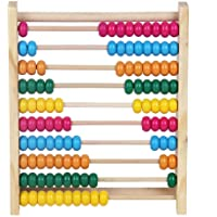 """Wooden Counting Number Frame/Abacus for Kids Math Toys - Wooden Beads Learning Toys Puzzle with or Toddler/Children 10""""x8.5""""x2.3"""""""