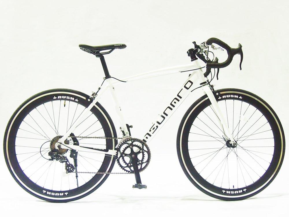ASUNAROアスナロ 自転車 AN-7014ALS Fennel(フェンネル) ロードバイク 700×23c 100%完成車 B073QP2Z9Mマットホワイト