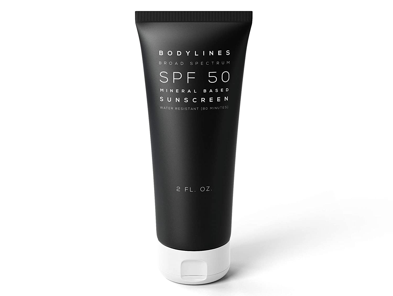 Bodylines Non Nano Zinc & Titanium Sunscreen, SPF50 Sensitive Skin, Vegan, Natural Chemical Free Reef Safe Mineral Facial Sunscreen, Broad Spectrum UVA/UVB Protection, Water Resistant, Daily Use, 60ml