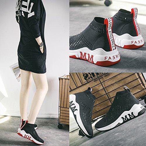 Deporte Punto Zapatos para de Elásticos de de Zapatillas GUNAINDMX Correr negro Zapatillas Zapatos Mujer q1gPWqntEv