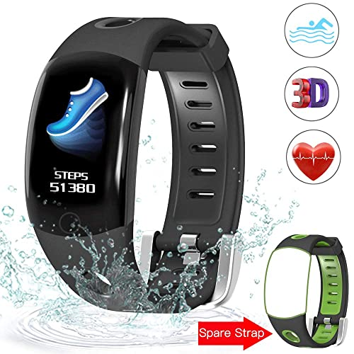 Evershop Fitness Tracker Swimming with HD Color Screen, IP68 Waterproof Fitness Tracker Watch, Activity Tracker with Heart Rate Monitor,Calorie Counter Sleep Monitor for Women Men Kids