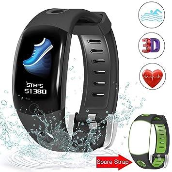 IP68 Fitness Tracker,Evershop Montre Connectée Smartwatch Bracelet Connecté Podometre Tracker dactivité pour