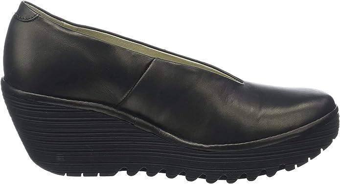 TALLA 40 EU. FLY London Yaz, Zapatos de tacón con Punta Cerrada para Mujer