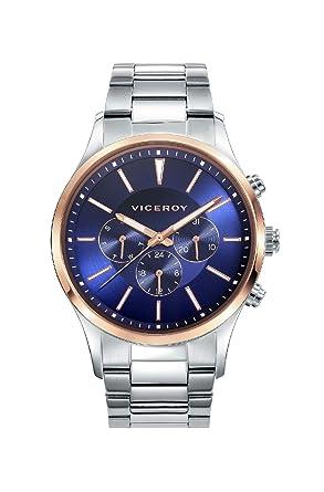 Viceroy Reloj Cronógrafo para Hombre de Cuarzo con Correa en Acero Inoxidable 42333-37