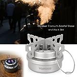 TOMSHOO Titanium Camping Stove Titanium Cup Mug Pot Compact Durable Portable Camping Cookware Mess Kit with Pot Spork Pan Water