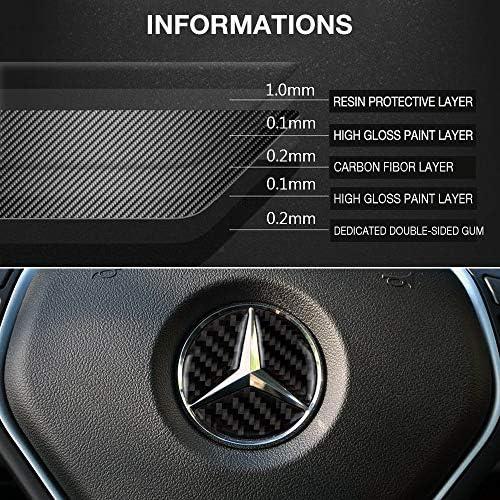 Huante Pegatina para interruptor de volante para Mercedes A B C E Ml Gl Cla Glk Sl Slk Clase W176 W246 W212 W204