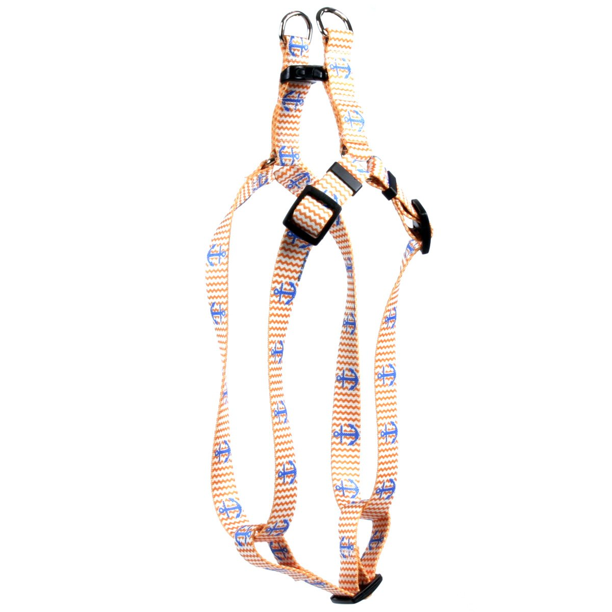 Yellow Dog Design Anchors Away Step-in Dog Harness 3/4'' Wide and Fits Chest Circumference of 15 to 25'', Medium by Yellow Dog Design