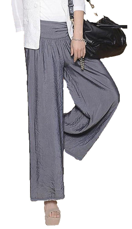 Zago Women's Cotton Vingtage Lacing Solid Wide Leg Nine pants