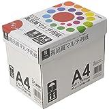 コピー用紙 A4 高品質マルチ用紙 白色度98% 紙厚0.106mm 2500枚(500×5) インクジェット用紙 PTK001