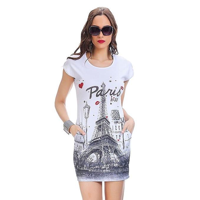 Vestido Sport Paris con Piedras Blanco S/M
