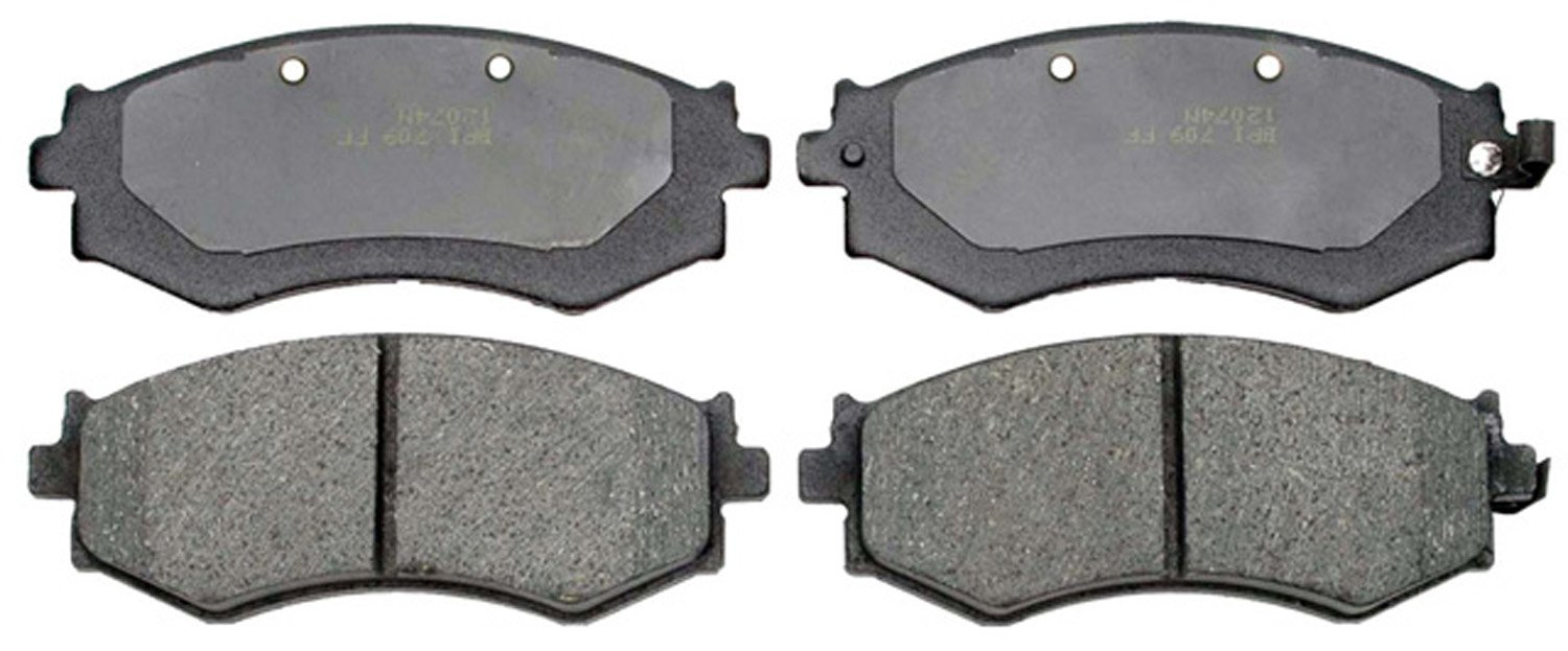 ACDelco 17D462 Professional Organic Front Disc Brake Pad Set