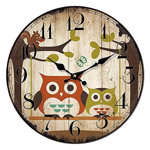 Cloud RackQuartz Circular Owl Wall Clock