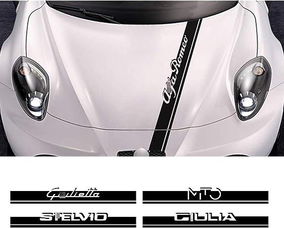 Adesivo Auto Accessori Auto Cofano Cofano Decalcomania Vinile Pellicola QCYSTBTG per Alfa Romeo Giulia 147156159 Mito Stelvio Sportiva Giulietta