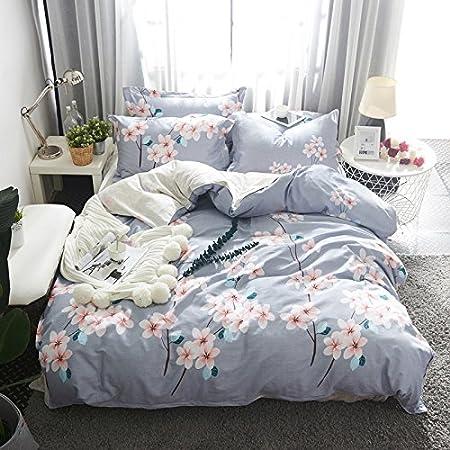 DLpf Cuatro piezas de algodón ropa de cama sábanas de algodón almohadón Funda del edredón manta roja neta de 1.5 metros de cama (180x200): Amazon.es: Hogar