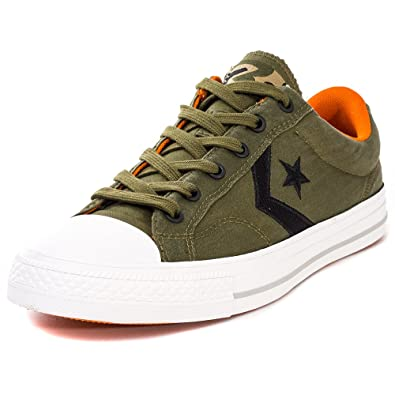 e0043d2506ee2e Converse Star Player Ox Mens Trainers Olive Black - 11 UK  Amazon.co ...