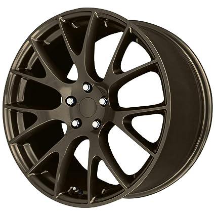 Amazoncom Wheel Replicas V1180 Hellcat 20x11 5x115 27mm Bronze