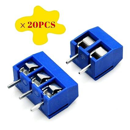 Gikfun 2 Pin and 3 Pin Screw Terminal Block Connector 5mm Pitch for Arduino  (Pack of 40pcs) EK8365