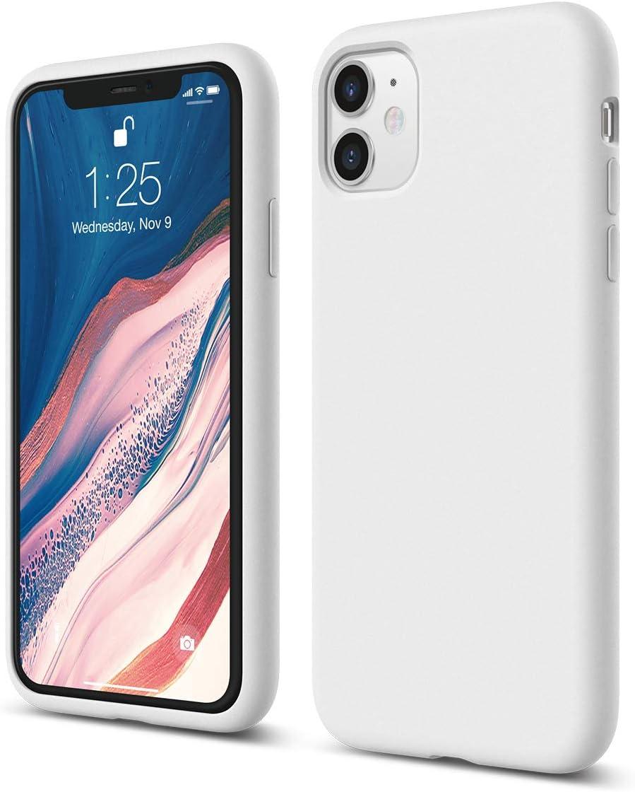 elago iPhone 11 Case |White| - Premium Liquid Silicone, Raised Lip (Screen & Camera Protection), 3 Layer Structure, Full Body Protection, Flexible Bottom