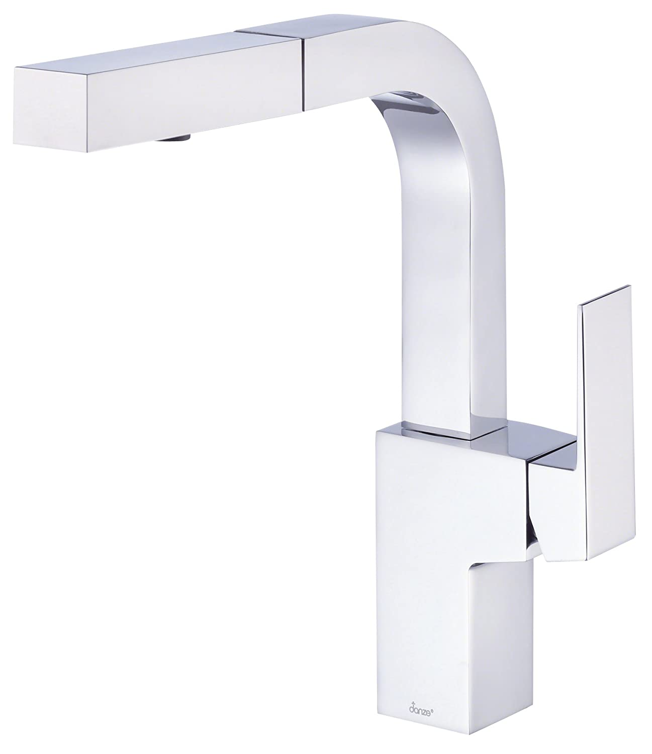 Danze D Mid Town Single Handle Pull Out Kitchen Faucet with