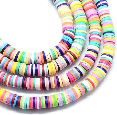 Green Vinyl Heishi Beads,4mm6mm8mm Vinyl Beads,Polymer Clay African Vinyl Disc Beads,Wholesale Vinyl Heishi DIY Making Jewelry Beads