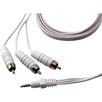 GE 97592 Multimedia Audio/Video Coaxial Cable for iPod Video (White)