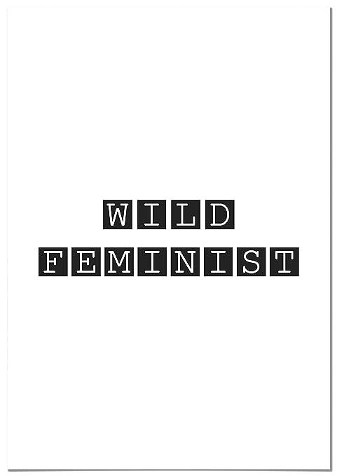 Panorama Poster Wild Feminist 21x30cm Gedruckt Auf Qualitativ