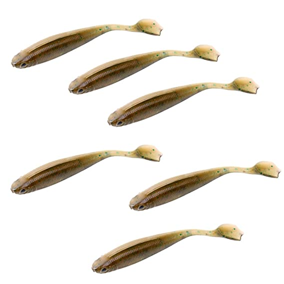 Sharplace 6pcs//lot Paddle Tail Minnow Soft Fishing Lures Bass Trout Shad Artificial Baits Tackle