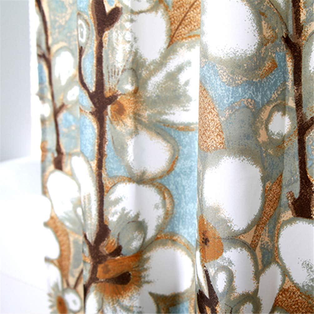 Feidaeu Rideau Bleu orchid/ées imperm/éable Tissu Polyester /él/égante Salle de Bains Doux r/ésistant /à la moisissure Rideau Frais de Salle de Bains Bain Rideau de Douche