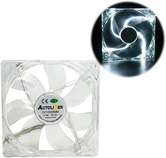 120mm WHITE Vetroo LED Computer PC Case Cooling Fan Sleeve Bearing CPU Radiators