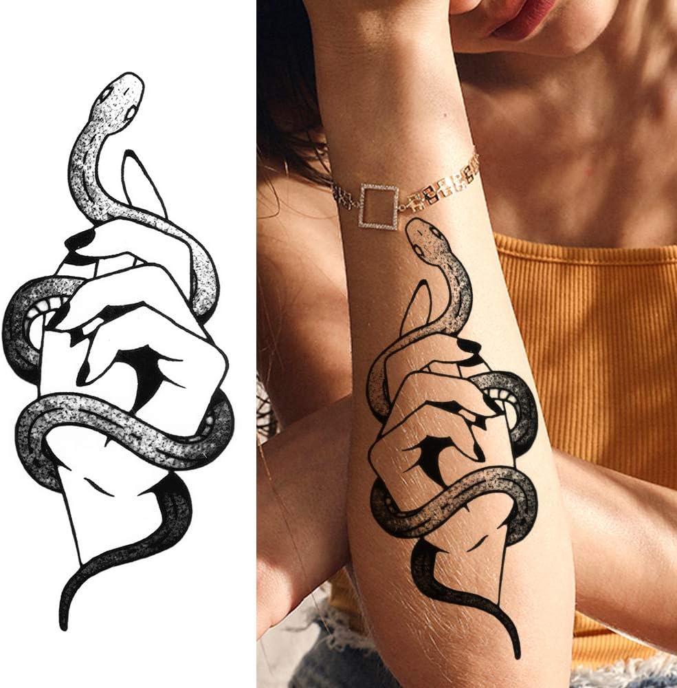 LAROI 10 Hojas Etiqueta Engomada Tatuaje Temporal Ciervo Zorro ...
