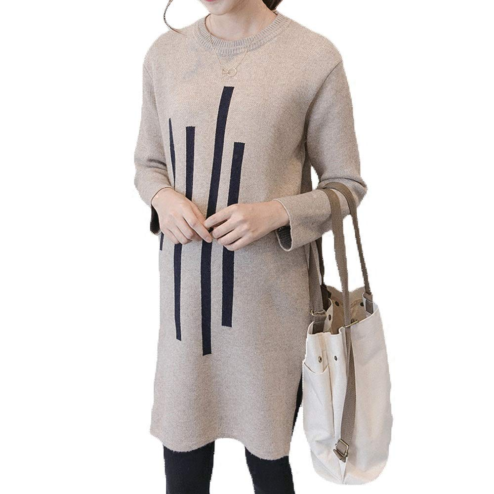 GAOJIE 妊娠中の女性は秋のファッションの新しい春のマタニティスカートのセーターをドレスアップ (色 : ベージュ)  ベージュ B07NWHVFXN