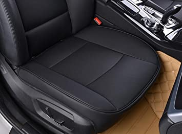 EDEALYN Luxury Car Interior PU Leather Seat Cushion Protector Front CoverSingle