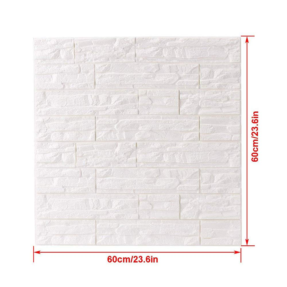 JiaMeng Pegatinas de Pared DIY 3D ladrillo PE Espuma Wallpaper ...