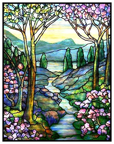 - Orenco Originals Mountain Stream Flowers Inspired Louis Comfort Tiffany Counted Cross Stitch Pattern