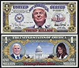 Lot of 2 bills President Donald Trump Team Commemorative Million Dollar Bill 45TH US President