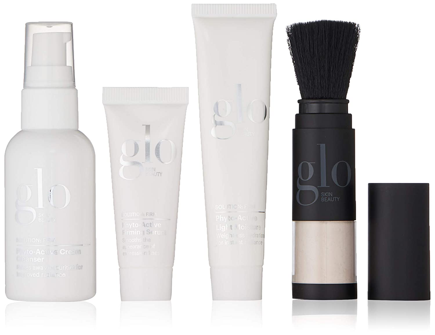 Glo Skin Beauty 4,Piece Travel Skincare Set for Treating Wrinkles and Fine Lines , Anti-Aging Skin Care for Firm Skin
