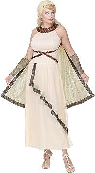 NET TOYS Elegante Disfraz Diosa Griega para Dama | Beis en Talla M ...