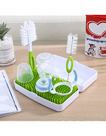 Baby Deluxe Bottle Drying Rack with Removable Water Tray Baby Bottle Drying Racks Upright Drinking Glass and Sports Bottle Drying Station for Bottles Pump Parts and Accessories Teats Cups