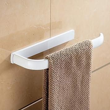 WOMAO Wei/ß Badezimmer Accessoires Set 2 St/ücke Toilettenpapierhalter und Handtuchring Alle Messing Konstruktion Wandmontieren Wandhalterung Modern Stil