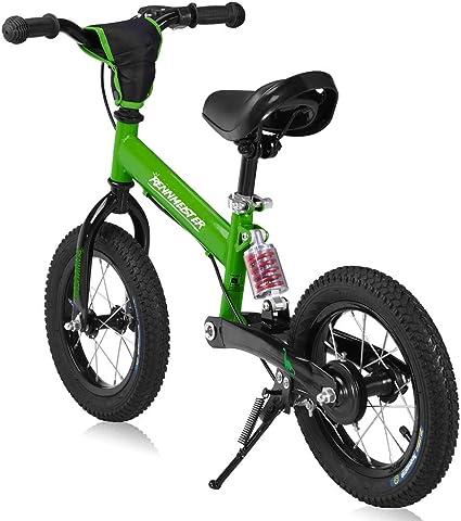 Deuba Rennmeister Laufrad Pneum Breitreifen Handbremse Anti Shock Lenkerpolster Kinder Fahrrad Lauflern Rad Balance Bike 12 Spielzeug