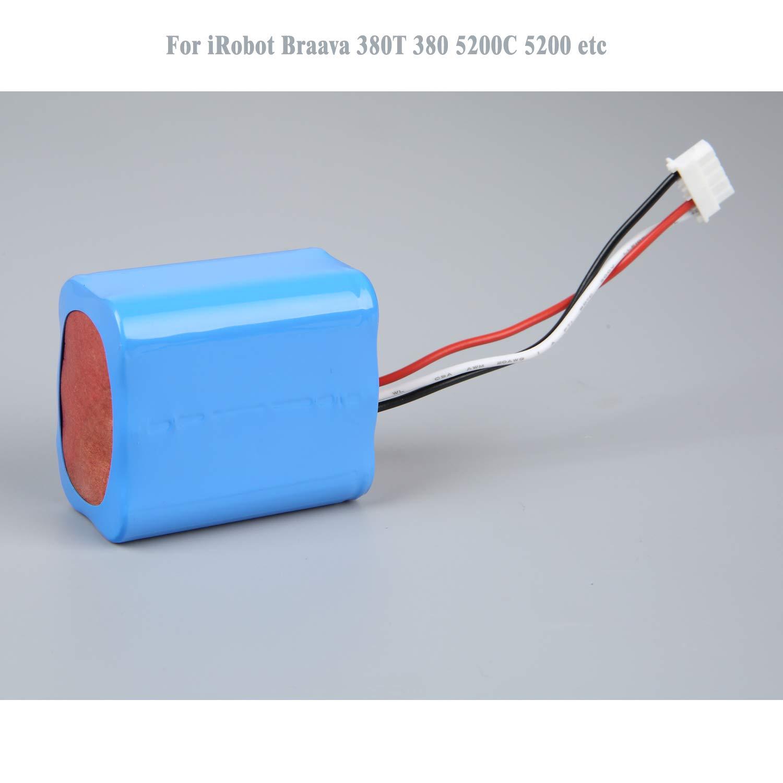 efluky 2500mAh 7.2V NI-MH Batería de Repuesto para iRobot Braava 380,380T, Menta 5200,5200B, 5200C Robots DE Mopping: Amazon.es: Hogar