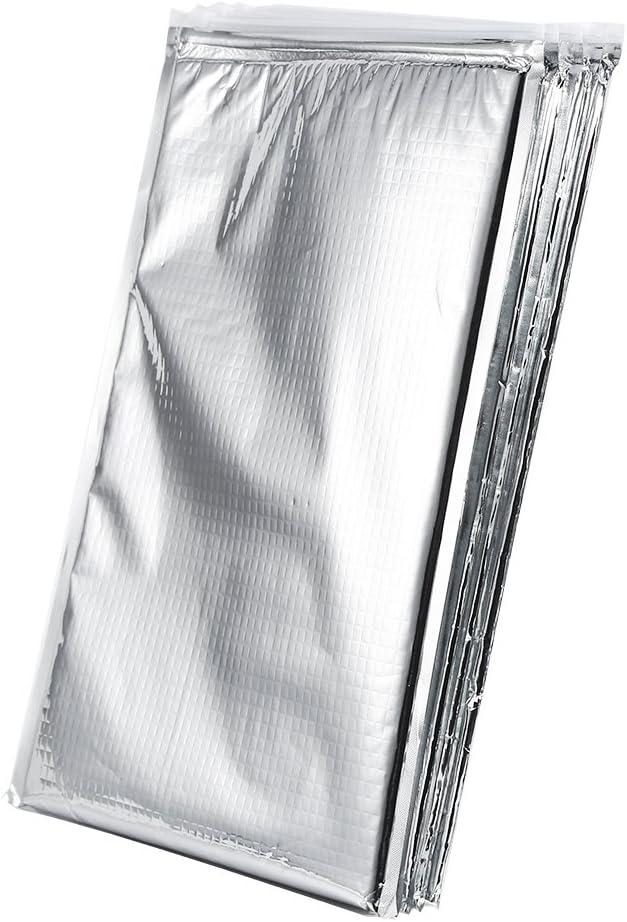 Fafeims Borsa per Alimenti Termica Riutilizzabile con Sacchetto Isolato in Foglio di Alluminio da 5 Pezzi per Campeggio da Viaggio per Picnic