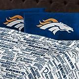The Northwest Company NFL Denver Broncos Sheet Set Anthem Full Bed