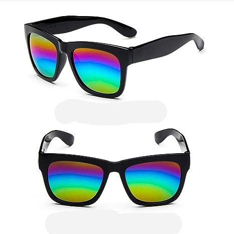 ZHANG Scatola di colore della pellicola occhiali da sole riflettenti marea moda occhiali da sole Colorful spiaggia occhiali da sole in gita in montagna, G