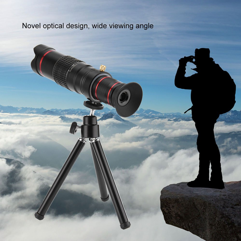 8 7 Plus con Paquete de Bolsa 6S Samsung Galaxy S8 S7 Huawei Aramox Telescopio Monocular 4K HD 22X /Zoom Lentes para m/óviles con Mini Montaje de tr/ípode para iPhone X