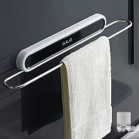 Handdoekhouder zonder boren, handdoekring wandmontage, RVS badkamerhanddoekhouder, zelfklevend zelfklevend, zelfklevend…