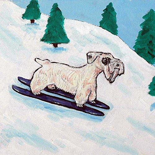 Sealyham Terrier Skiing Decor dog art tile coaster gift